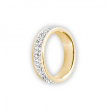 GD316 ANILLO DOBLE BANDA DE BRILLANTES