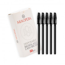 MiaOpera Black Brow and Lash Brush 50pcs
